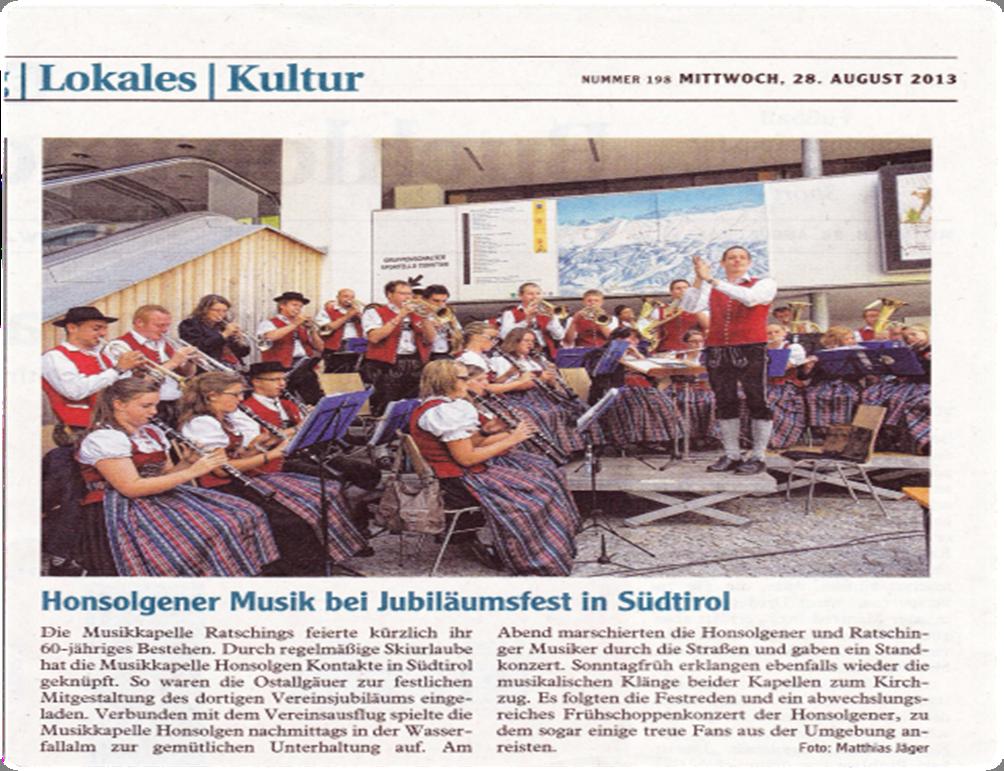 MK Honsolgen in Ratschings 2013_Bericht aus Buchloer Zeitung